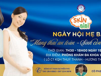Kem bôi da trẻ em SkinBiBi tiếp tục đồng hành cùng Ngày Hội Mẹ Bầu tại Huế